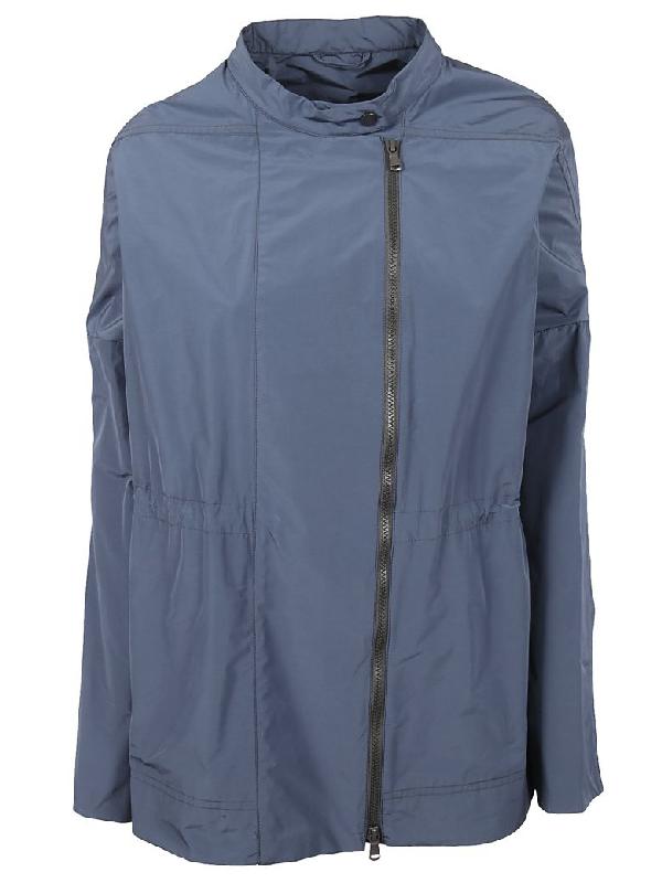 Brunello Cucinelli Zip-up Jacket In Blue