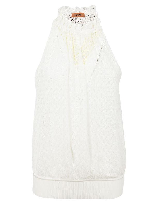 Missoni Crochet Top In White