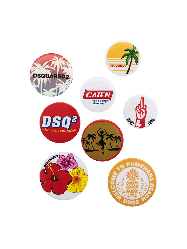 Dsquared2 Set Of Eight Badges