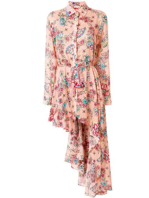 Anjuna Amanda Asymmetric Dress In Pink