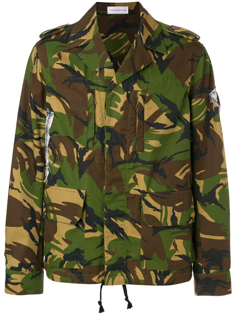 Faith Connexion Camouflage Print Jacket In 220