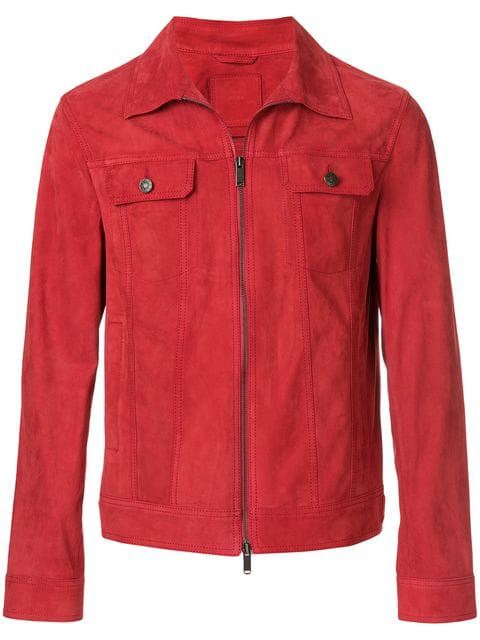 Desa Zipped Jacket In Red