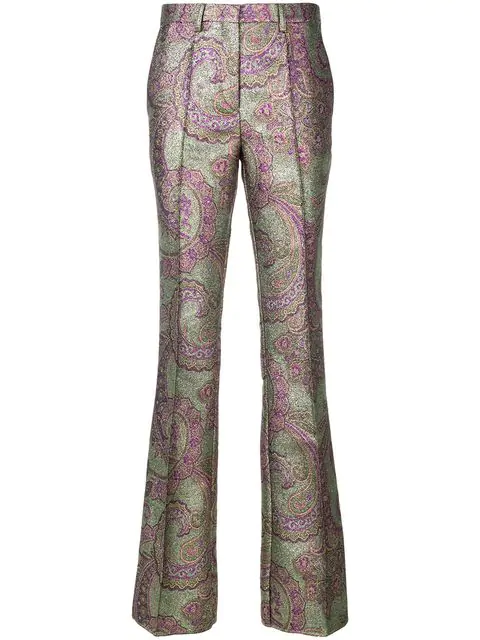 Etro Flared Paisley Trousers