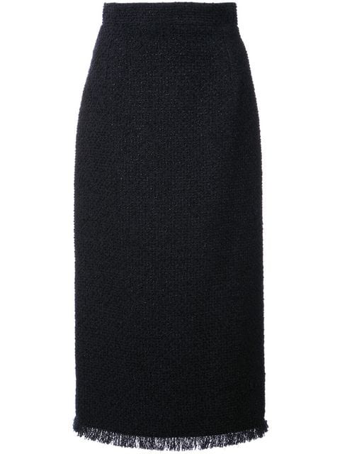 Oscar De La Renta Boucle Tweed Pencil Skirt