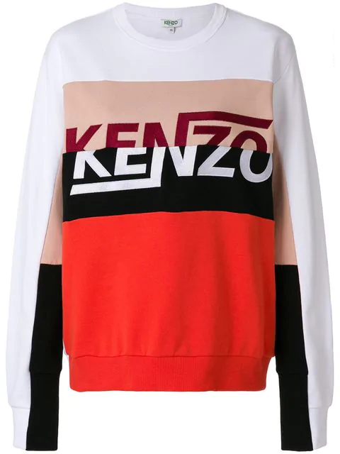 Kenzo Broken Logo Sweatshirt In 01.white