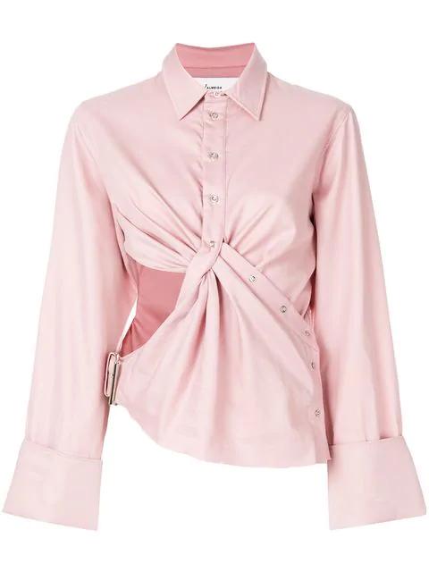 Marques' Almeida Marques'almeida Cut-out Detail Shirt - Pink & Purple