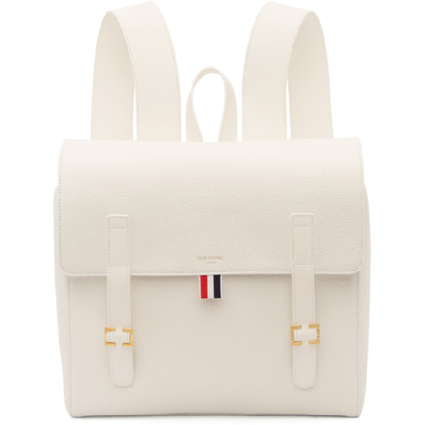 Thom Browne White Unstructured Book Backpack