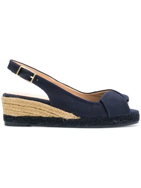 CastaÑer Espadrille Wedge Sandals - Blue