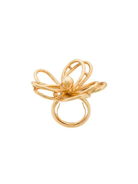 Oscar De La Renta Botanical Scribble Ring