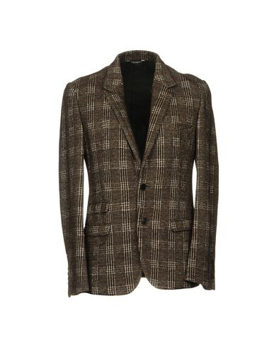 Dolce & Gabbana Blazers In Dark Brown