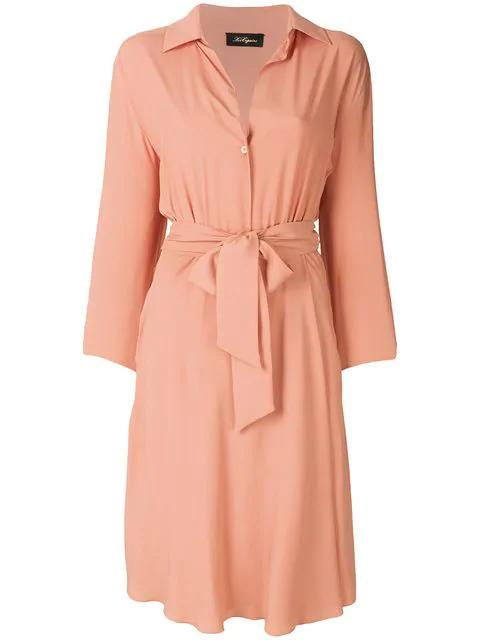 Les Copains Tie Waist Shirt Dress
