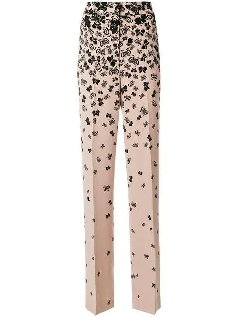 Bottega Veneta Butterfly Print Trousers