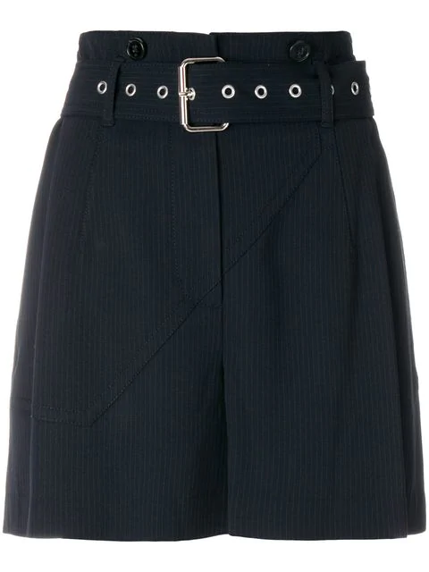 3.1 Phillip Lim Belted Tailored Shorts - Blue