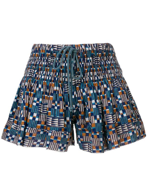 Etoile Isabel Marant Printed Shorts In Blue