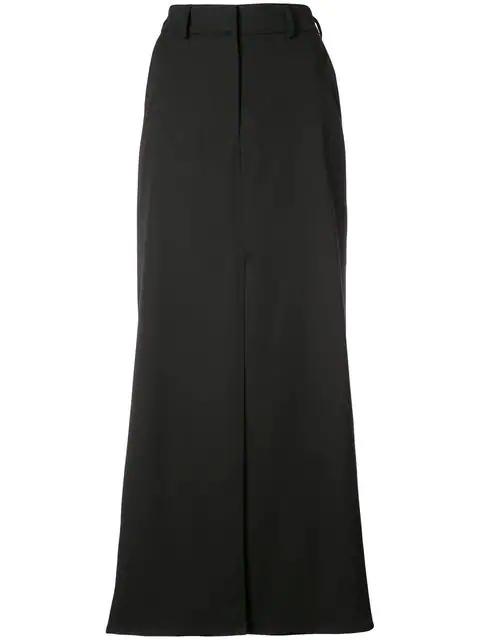 Oscar De La Renta Front Slit Maxi Skirt