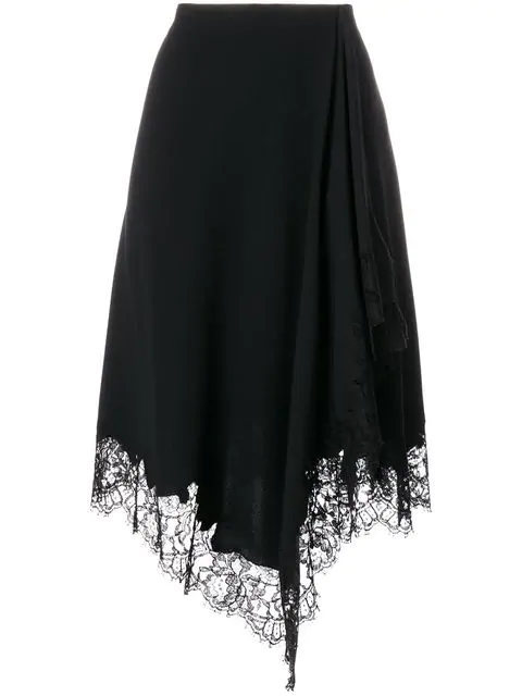 Givenchy Lace Trim Handkerchief Skirt
