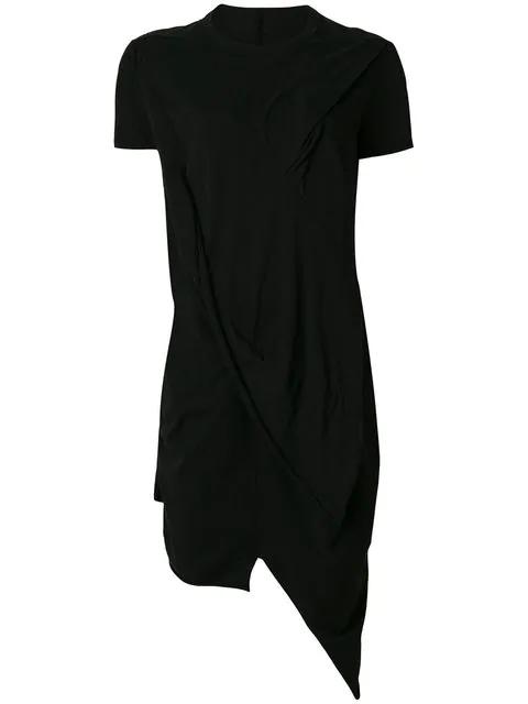 Rick Owens Drkshdw Draped Asymmetric T-shirt In Black