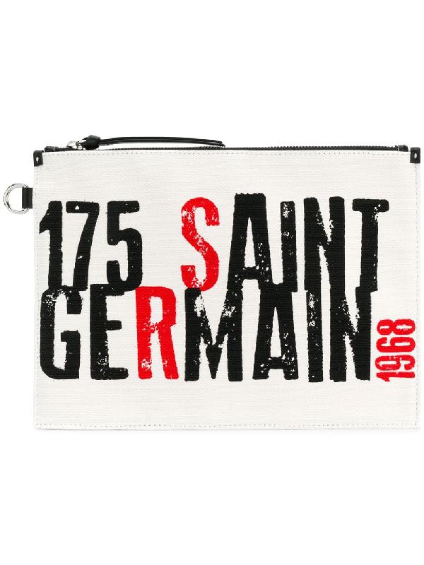 Sonia Rykiel Saint Germain Printed Clutch