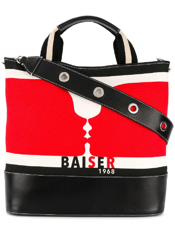 Sonia Rykiel Kiss Print Shopping Bag