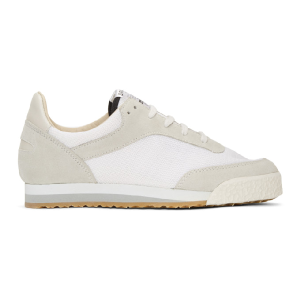 Spalwart White And Grey Pitch Sneakers