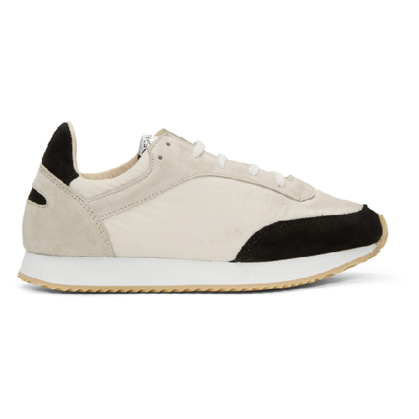 Spalwart Black And White Tempo Sneakers In Black Chalk