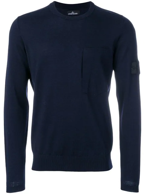 Stone Island Shadow Project Crew Neck Sweater In Blue
