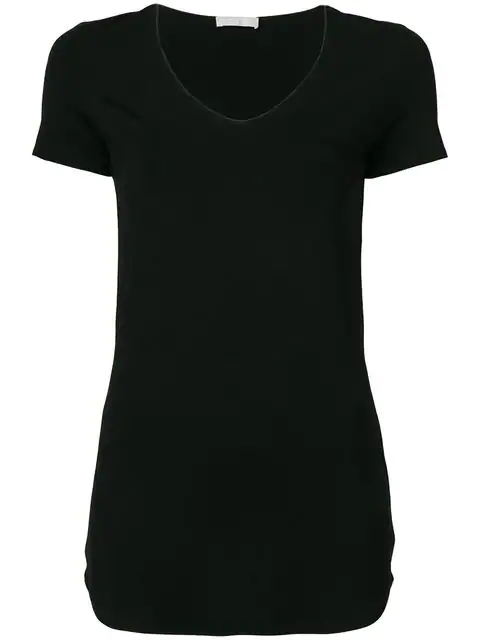 Le Tricot Perugia Classic Fitted T In Black