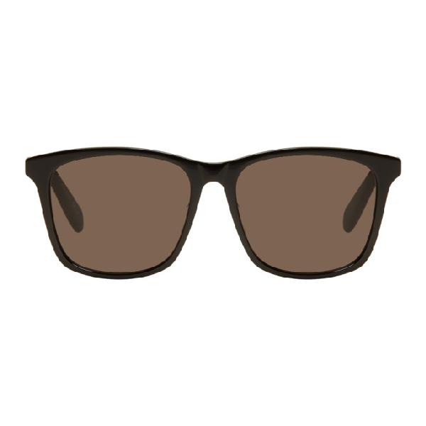 Saint Laurent Black Oversized Classic Sunglasses In 001 Black