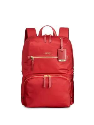 Tumi Halle Backpack In Crimson