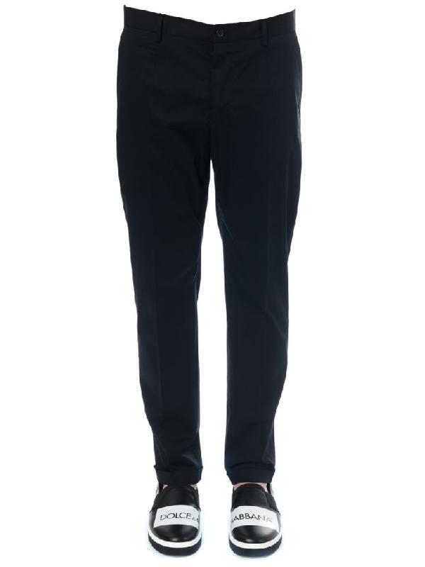 Dolce & Gabbana Tailored Blu Cotton Trousers