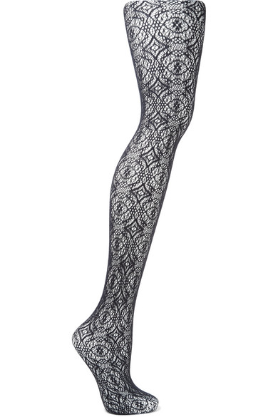 Falke Lace Tights In Midnight Blue