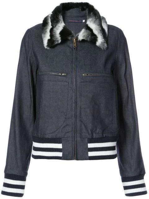 Harvey Faircloth Collared Zip Denim Jacket