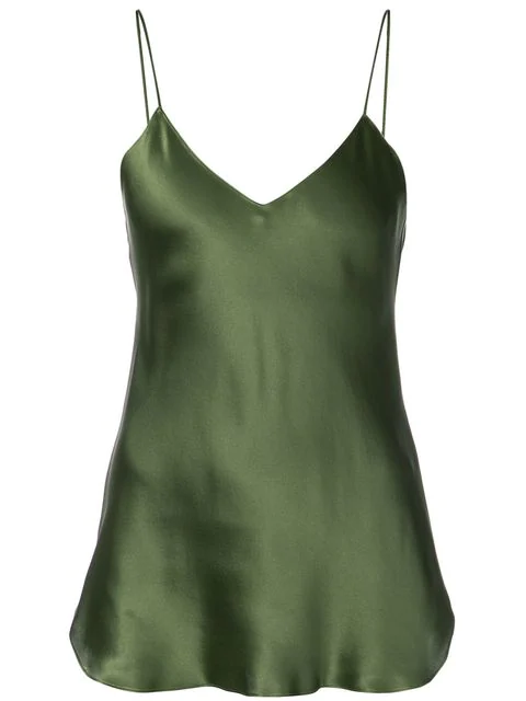 Nili Lotan Isabella Cami Top In Green