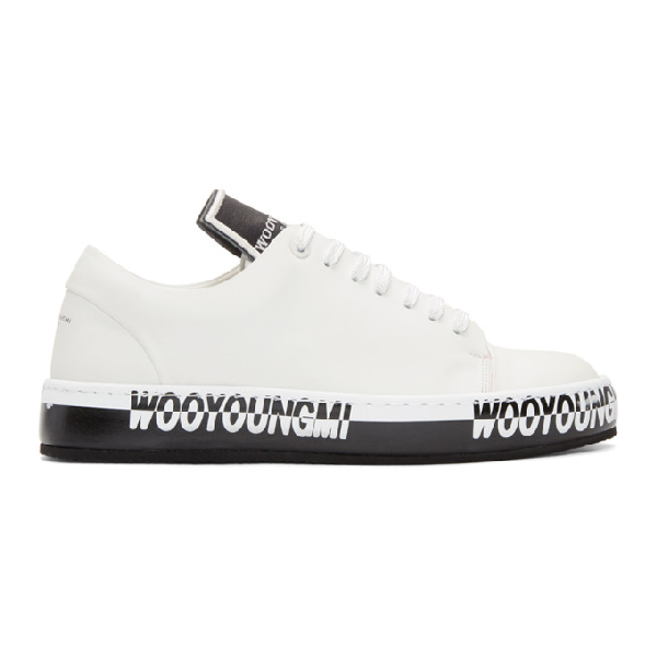 Wooyoungmi Off-white Logo Sneakers In 611w White
