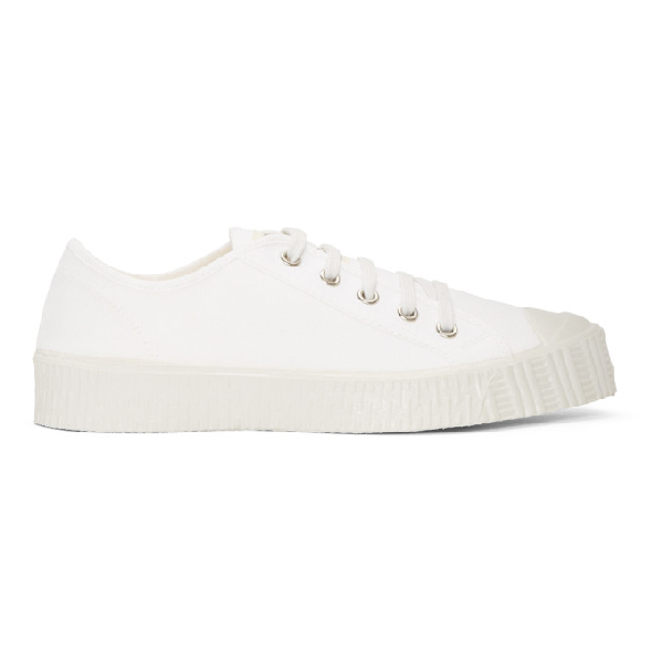 Spalwart White Canvas Special Low Sneakers