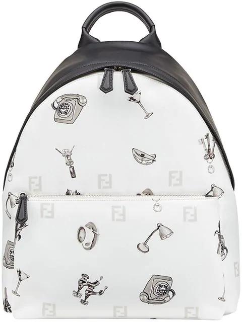 Fendi Printed Backpack