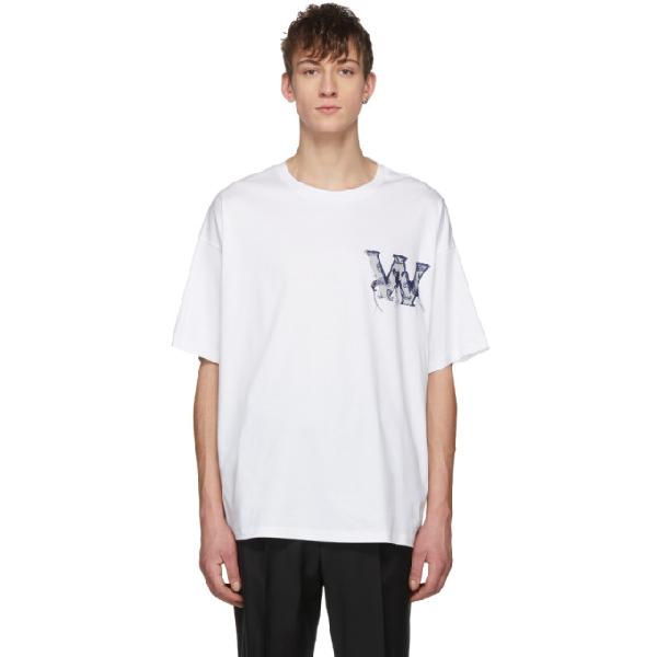Wooyoungmi White Logo T-shirt