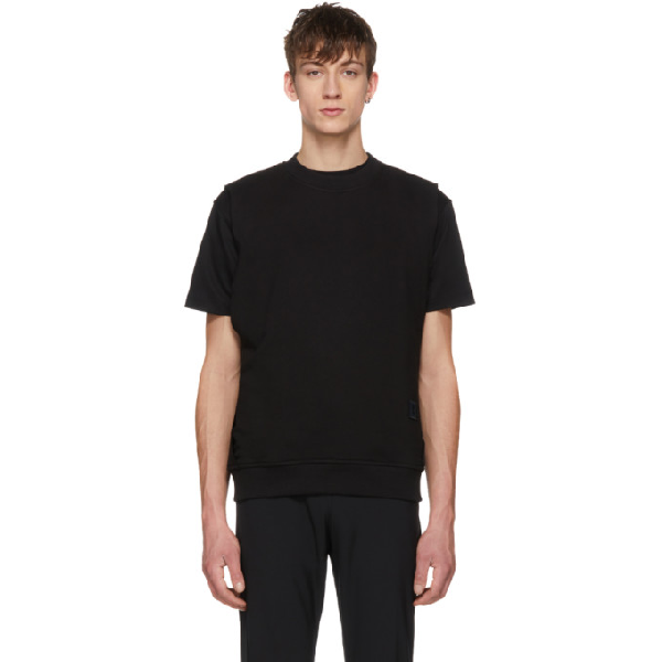 Wooyoungmi Black Layered T-shirt
