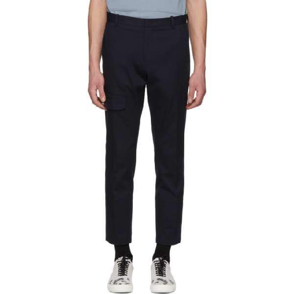 Wooyoungmi Navy Twill Cargo Pants