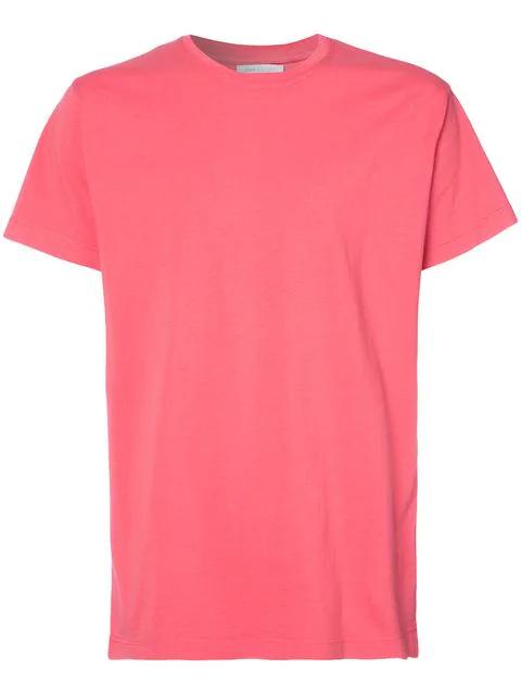 John Elliott Crew Neck T-shirt In Red