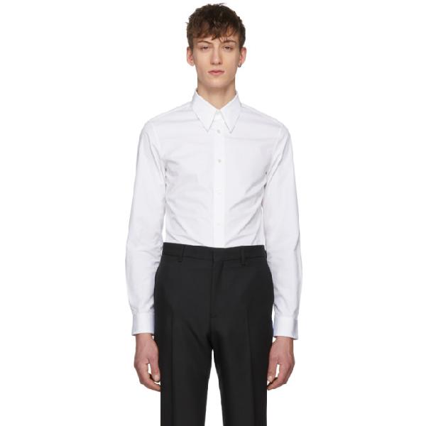 Calvin Klein 205w39nyc White Back Text Shirt In 100 Opt Wht