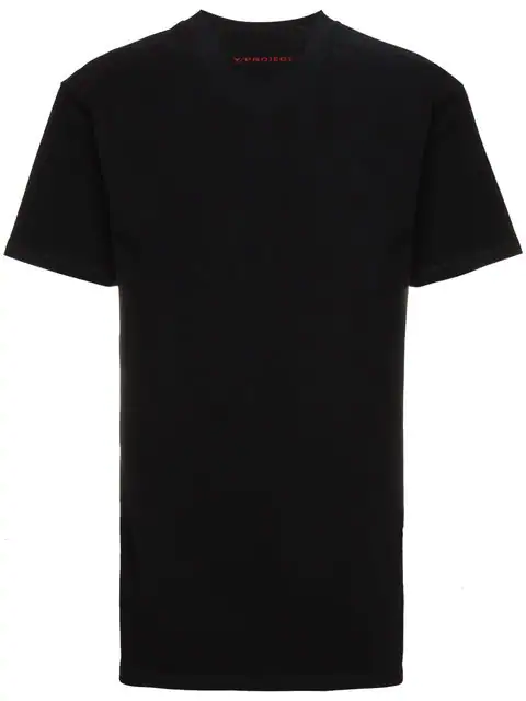 Y/project Y / Project Double Collar Logo T Shirt In Black