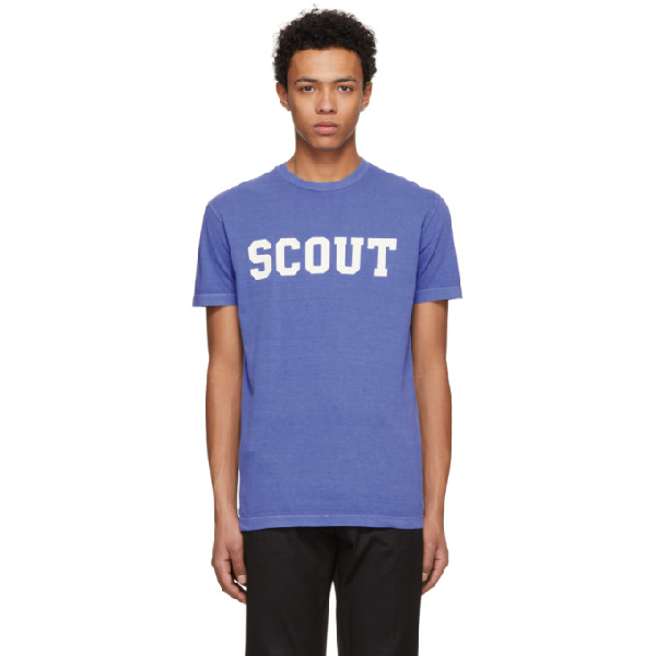 Dsquared2 Blue 'scout' Long Cool T-shirt