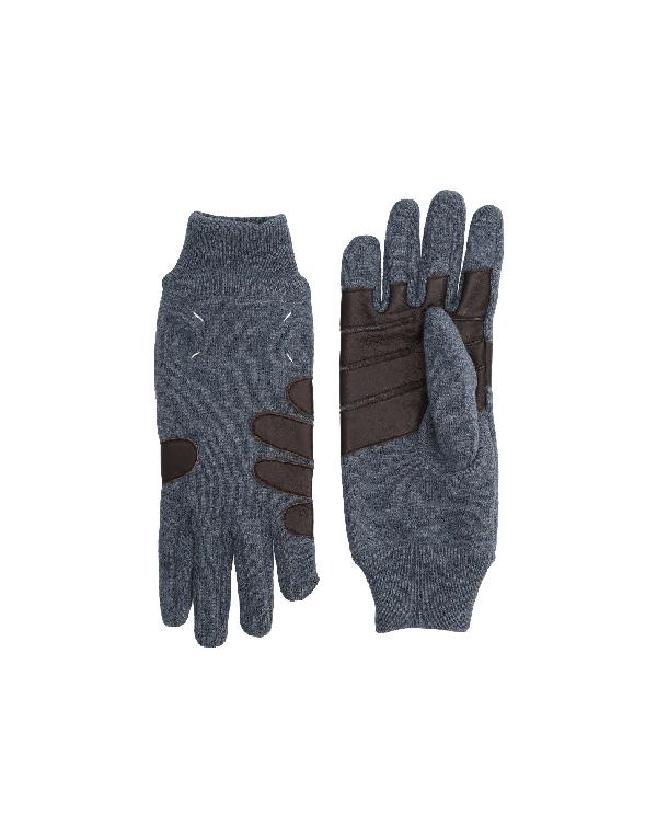 Maison Margiela Gloves In Slate Blue