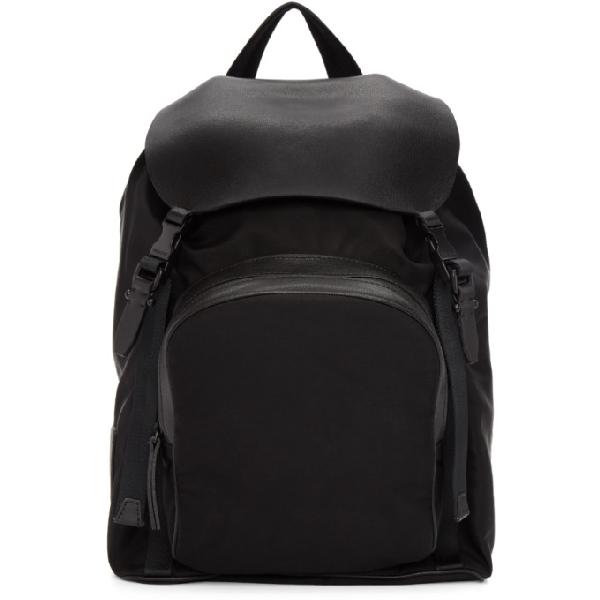 Neil Barrett Black Single Pocket Flap Backpack