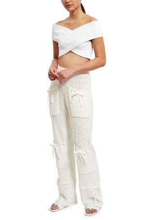 Opening Ceremony Boucle Pants In White