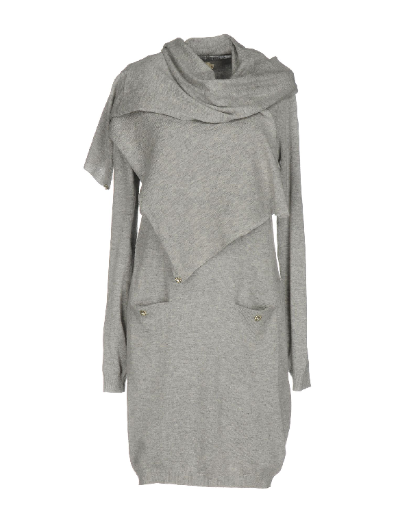 Molly Bracken Short Dresses In Grey