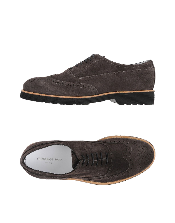 Alberto Guardiani Laced Shoes In Dark Brown