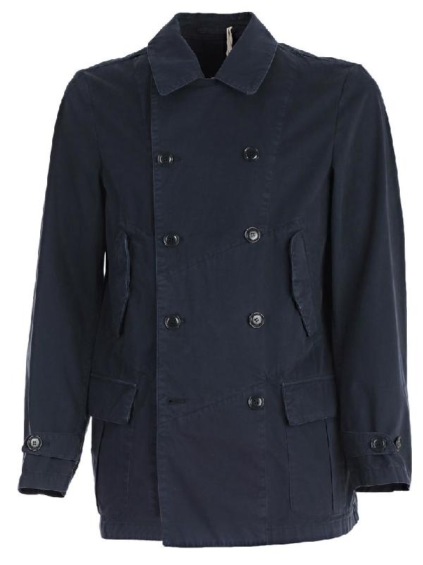 Aspesi Coat In Blue