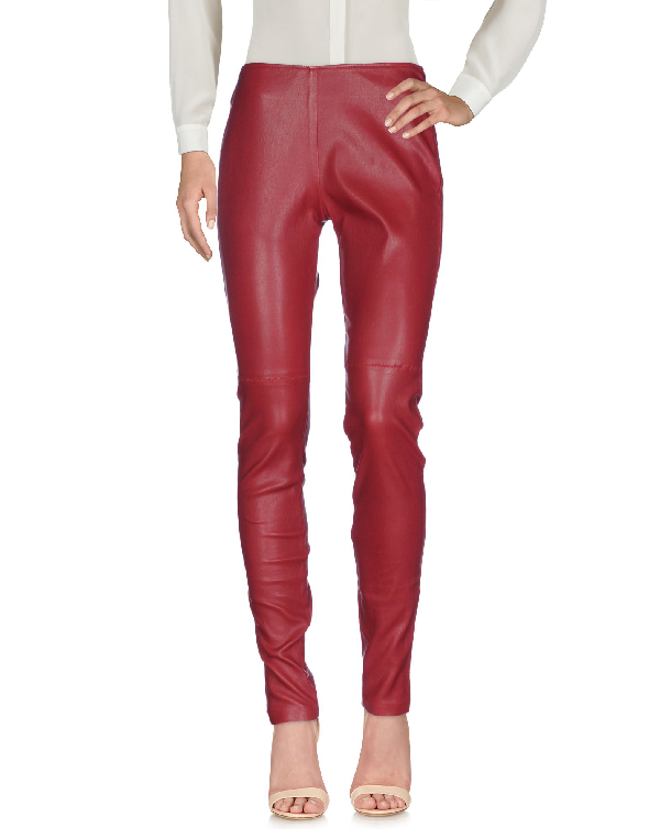 Maison Margiela Casual Pants In Brick Red